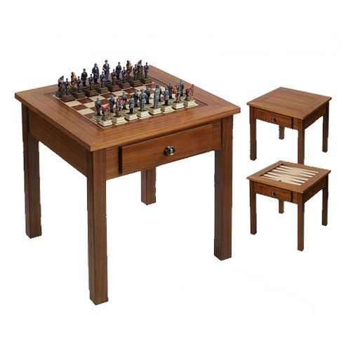 Oriental Three In One Game Table Made Of Inlaid Rosewood Veneer