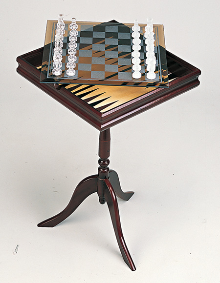 7-in-1 Pedestal Game Chess Table